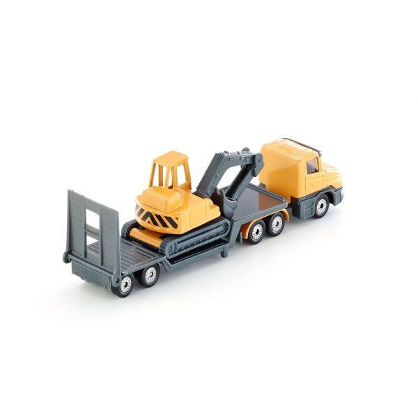 Xe tải chở xe xúc