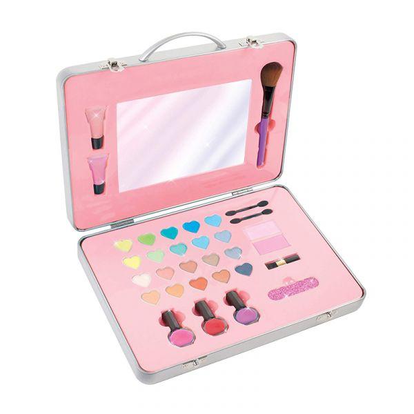 Bộ dụng cụ trang điểm màu hồng sành điệu