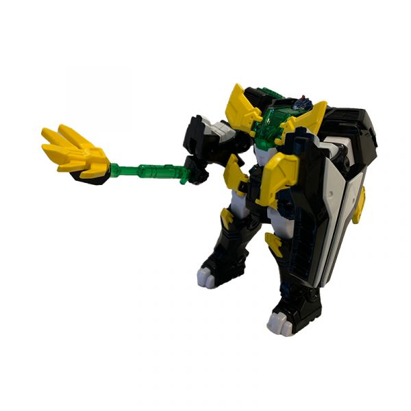 Robot siêu khủng long Stego băng giá cùng siêu nhân Leo Thiê