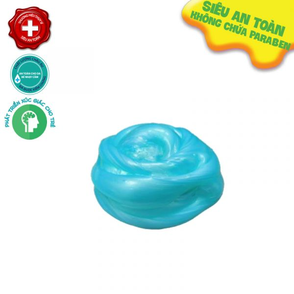 Slime nguyên bản ánh kim hũ 500gr-xanh ngọc