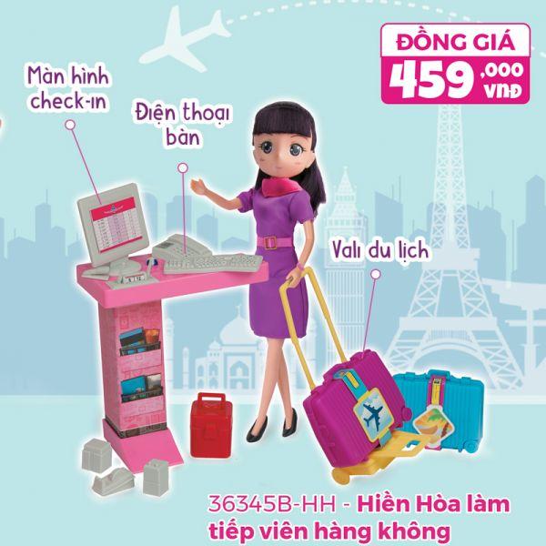 Hiền Hòa làm tiếp viên hàng không