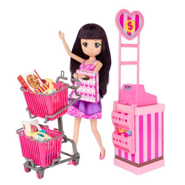 Hiền Hòa làm nhân viên siêu thị