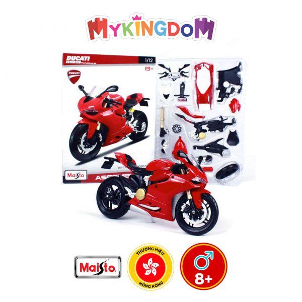 Đồ chơi xe mô tô lắp ráp Ducati 1199 Panigale tỉ lệ 1:12