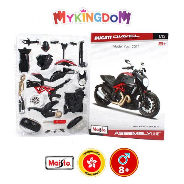 Đồ chơi xe mô tô lắp ráp Ducati Diavel Carbon