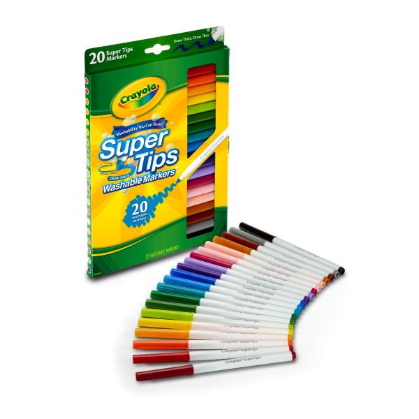 Bút lông 20 màu vẽ nét dày, mảnh(có thể tẩy rửa được)