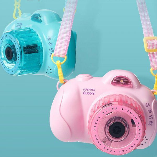 Máy chụp hình bong bóng đèn flash - xanh