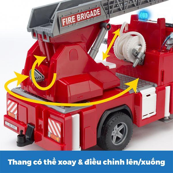 Đồ chơi dạng mô hình theo tỷ lệ thu nhỏ 1:16 xe cứu hỏa có t