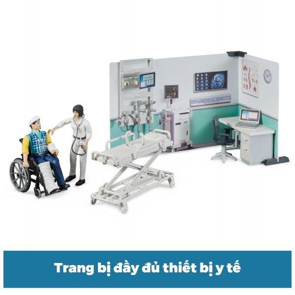 Đồ chơi dạng mô hình theo tỷ lệ thu nhỏ 1:16 Phòng cấp cứu B