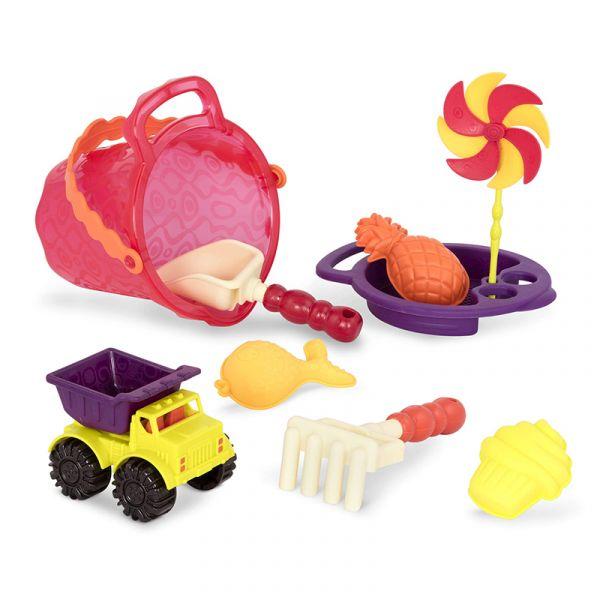 Bộ đồ chơi cát mùa hè và xe ben