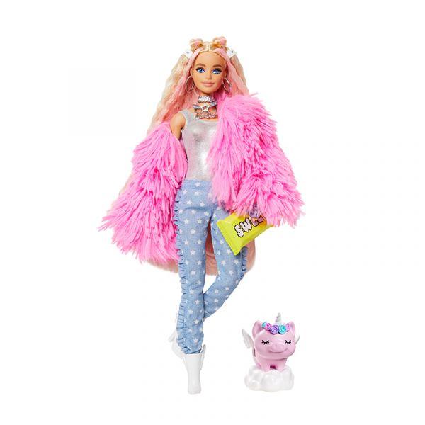 Búp bê Barbie Extra FLUFFY PINK JACKET