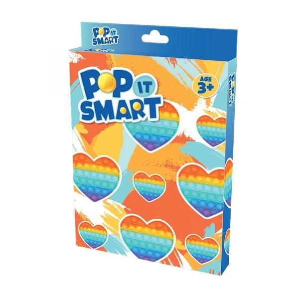 Đồ chơi Pop It Smart hình trái tim cầu vồng