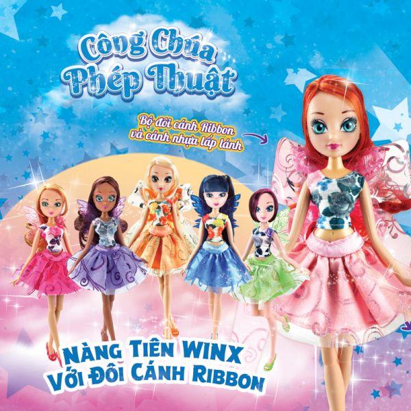 Búp bê Nàng tiên Winx với đôi cánh ribbon - Layla