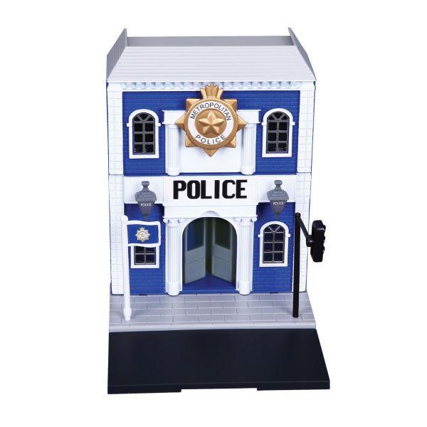 Bộ mô hình trạm cảnh sát và xe Bburago Land Rover