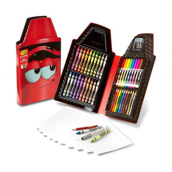 Hộp bút màu - Tips đỏ xinh xắn(20 bút sáp, 10 bút lông, 10 b