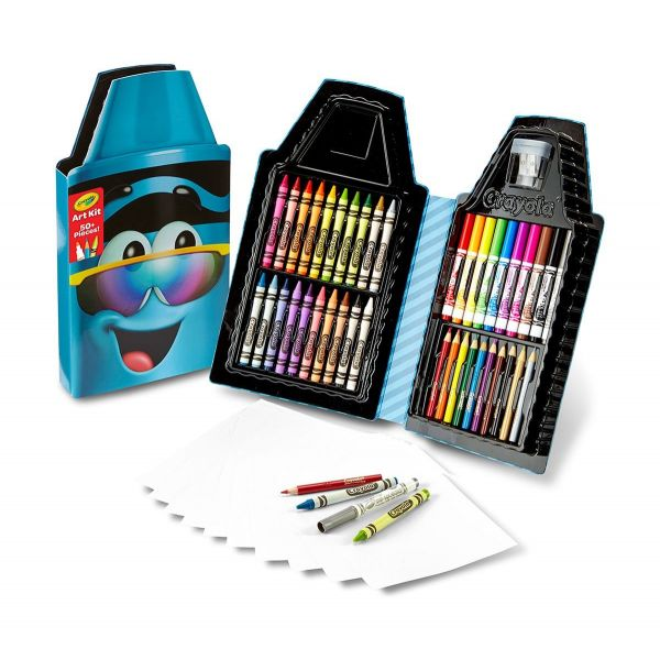 Hộp bút màu - Tips xanh dương cá tính(20 bút sáp, 10 bút lôn