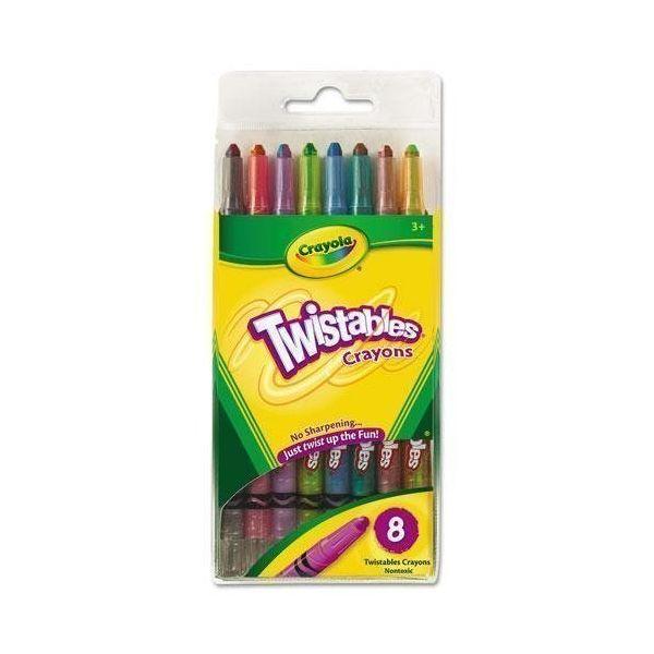 Bút sáp dạng vặn 8 màu