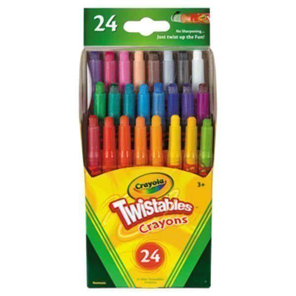 Bút sáp dạng vặn 24 màu (loại nhỏ)