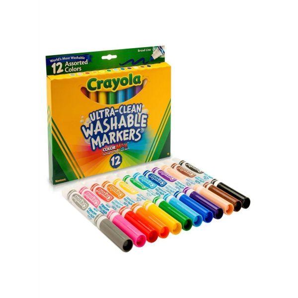 Bút lông 12 màu nét dày (có thể tẩy rửa được)