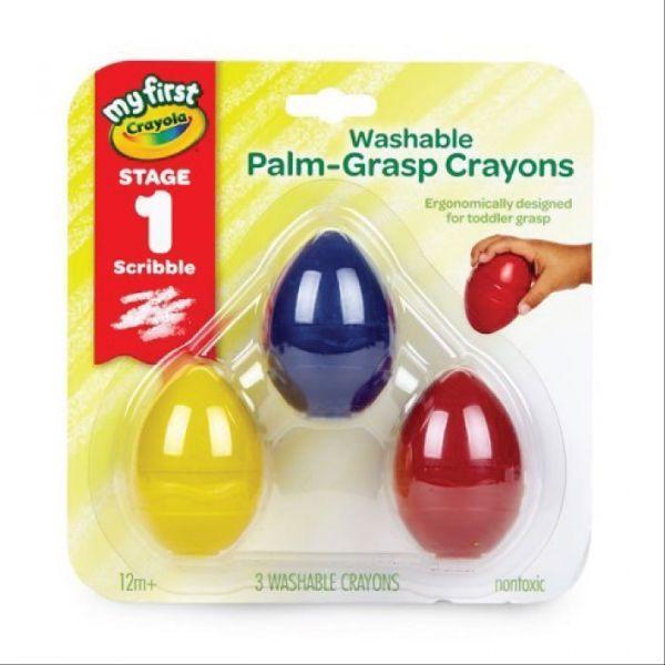 Bút sáp 3 màu hình trứng ( có thể tẩy rửa được)