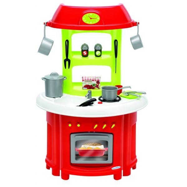 Bộ nhà bếp truyền thống màu đỏ