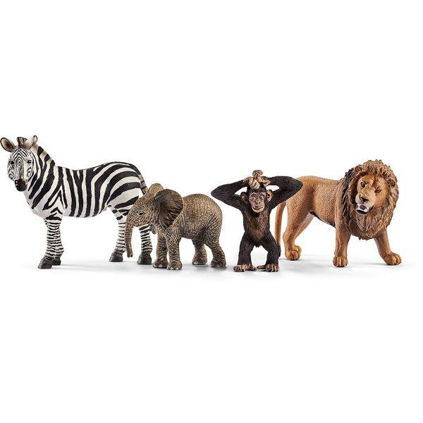 Bộ mô hình động vật hoang dã Safari ( sư tử, voi con, ngựa v