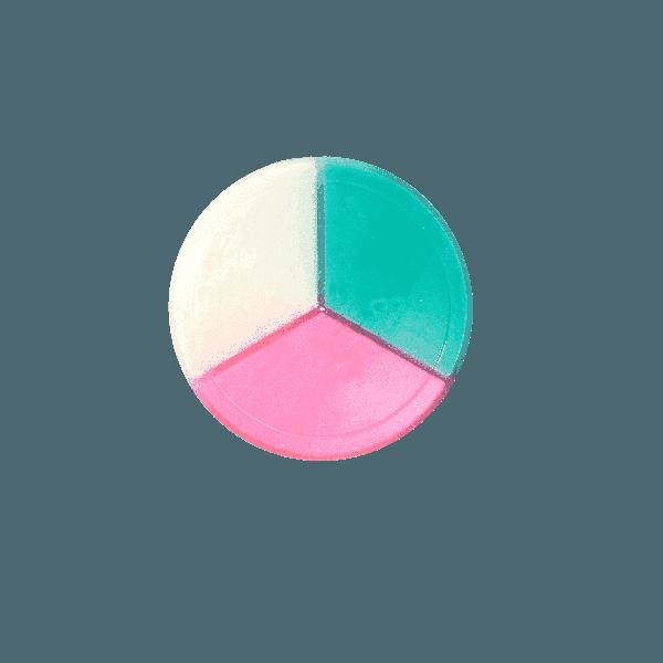 Chất nhờn ma quái Slime Trio hũ 3 màu- hương thơm- loại 1 (t