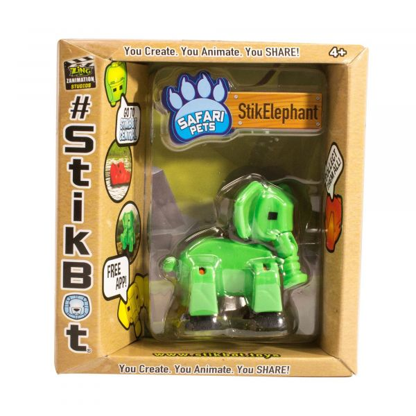 Stikbot safari-voi con-xanh lá cây