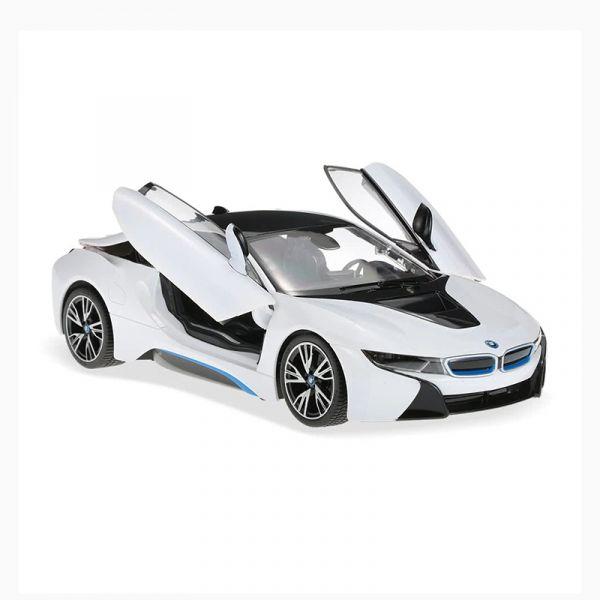 Xe BMW i8 mở cửa bằng điều khiển trắng