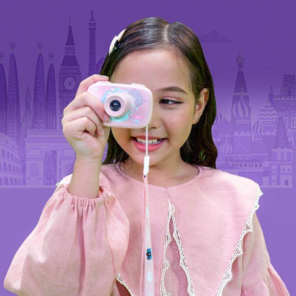 Máy chụp hình thông minh - hồng dịu dàng