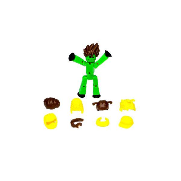 Stikbot hành động dòng 2 tóc thời thượng-xanh lá cây