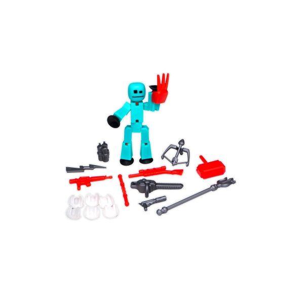 Stikbot hành động dòng 2-vũ khí-xanh da trời