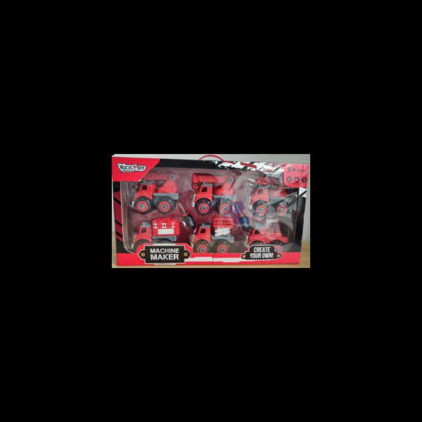 Bộ đồ chơi lắp ráp 6 xe Vecto DIY (cứu hỏa)