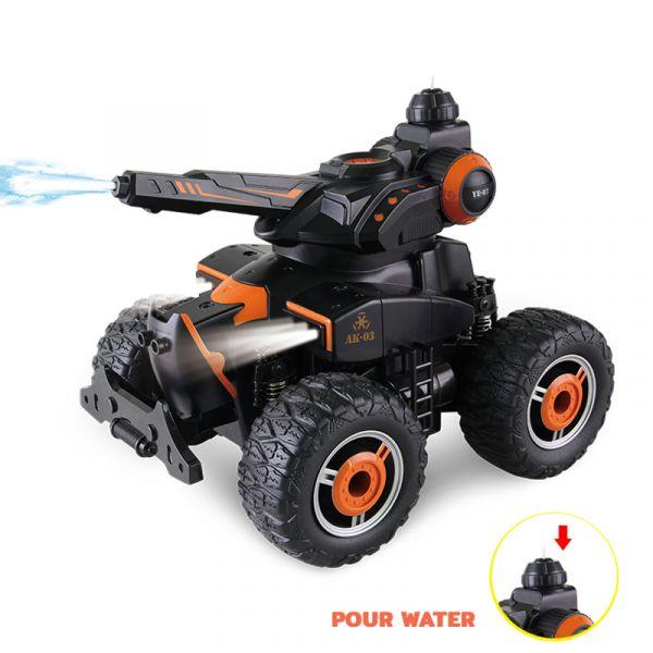 Xe tăng bắn nước điều khiển từ xa (cam)