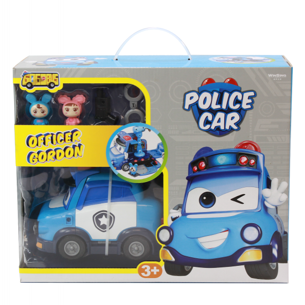 Bộ Playset Xe cảnh sát GoGo Justin